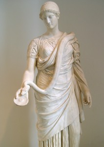 Statue of goddess Hygieia